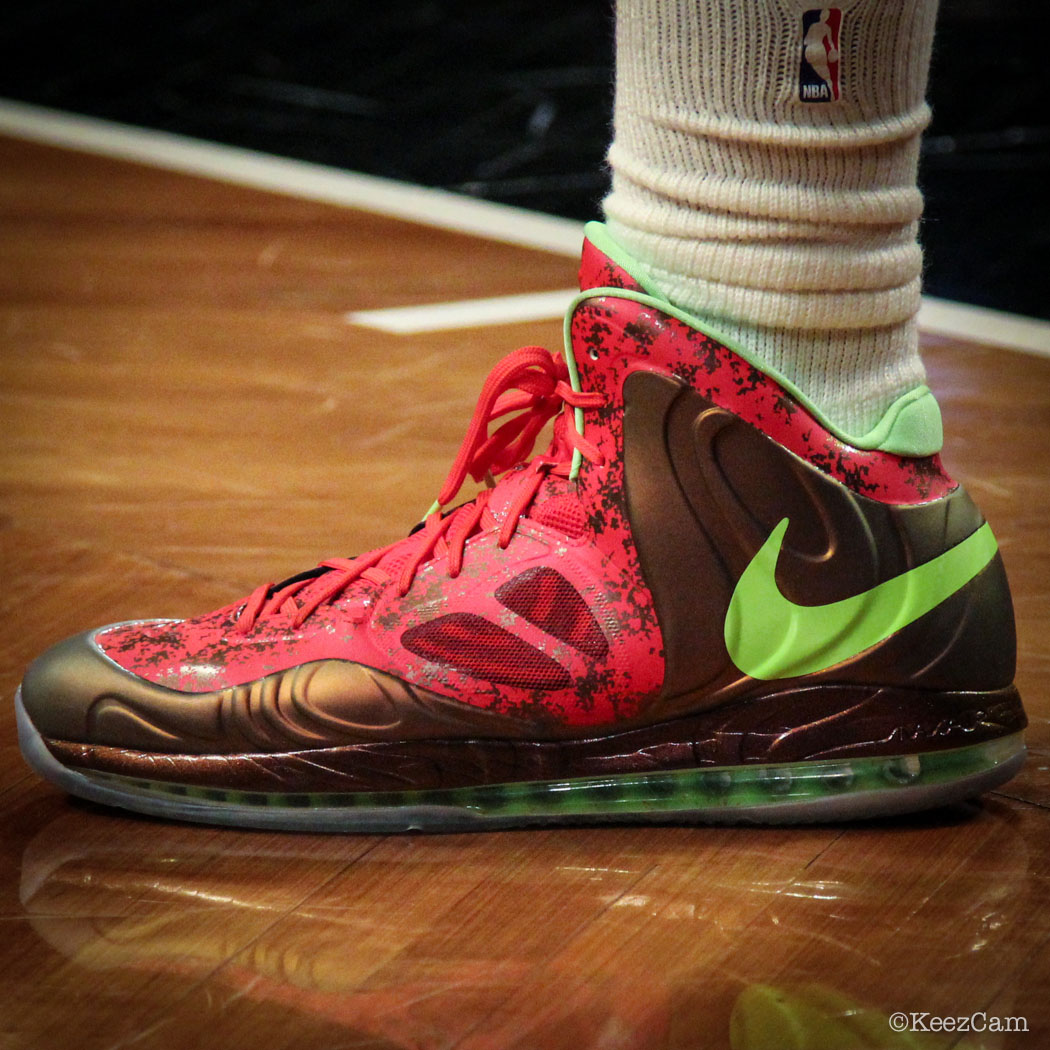 Andre Drummond wearing Nike Air Max Hyperposite Red/Green (1)