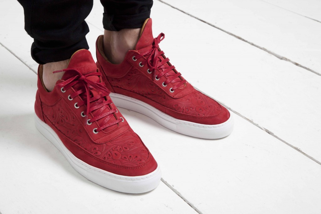Filling Pieces Spring Summer 2014 Trainer red paisley