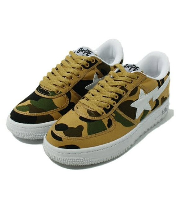 d9836d02f261 ... bape 1st camo green canvas bapesta While still quite a few years  removed from their peak and prime in the world of ...
