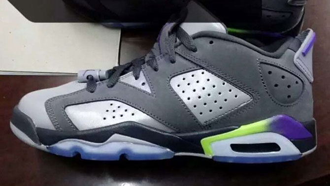 Air Jordan VI 6 Low Dark Grey/Ultraviolet-Wolf Grey-Ghost Green