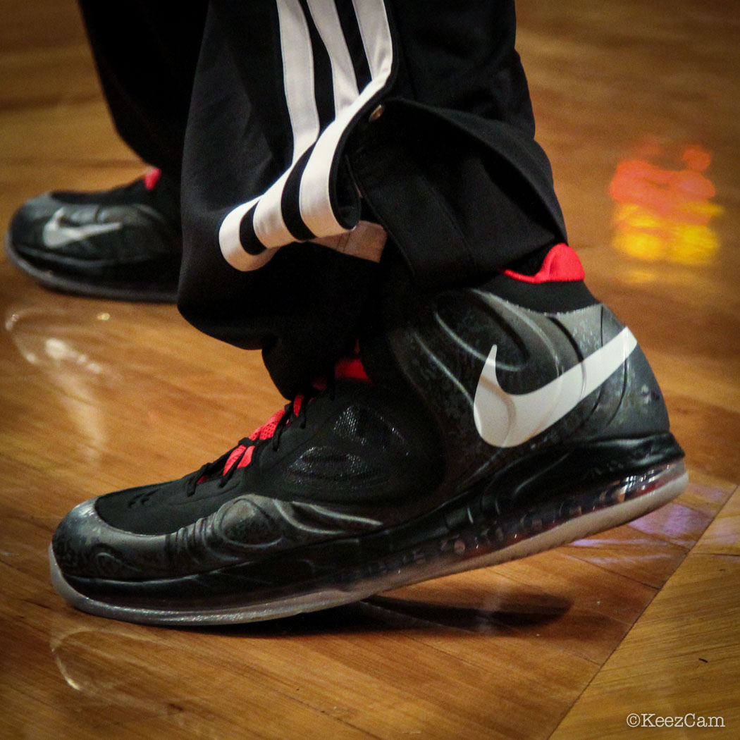 Sole Watch // Up Close At Barclays for Nets vs Heat - Chris Bosh wearing Nike Air Max Hyperposite PE