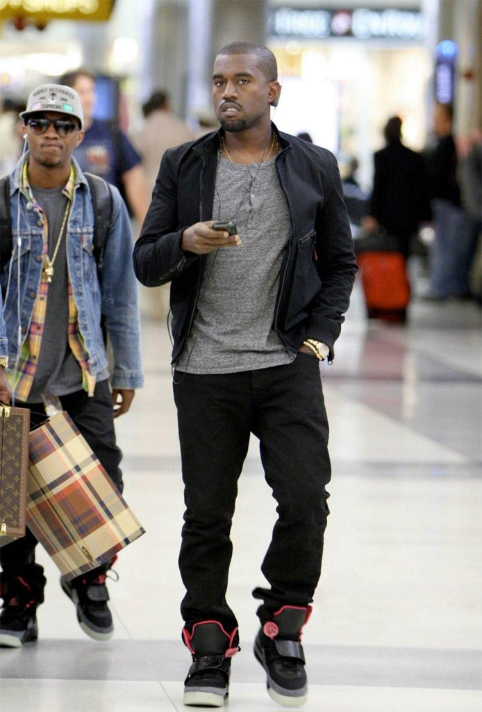 Kanye West wearing Nike Air Yeezy Blink