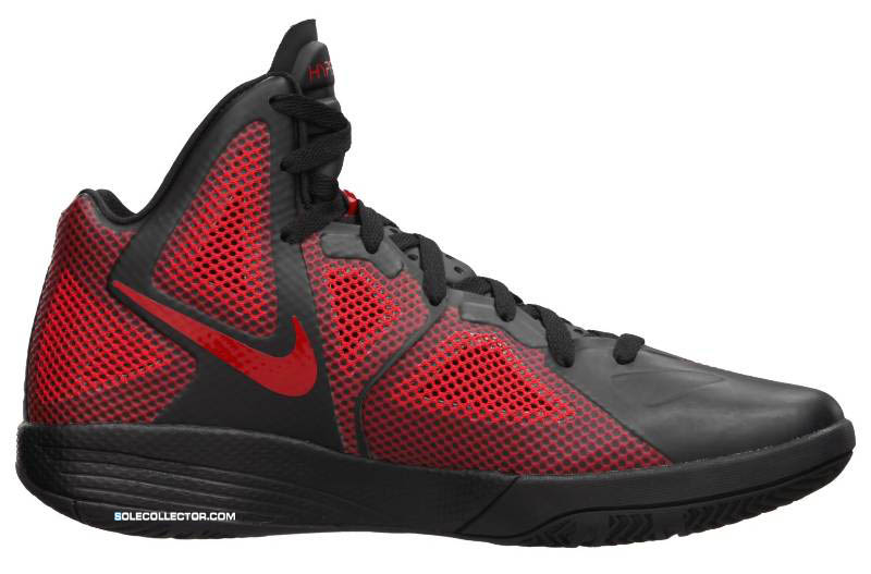 d8266e0c71f1 Nike Zoom Hyperfuse 2011 Black Metallic Luster Sport Red 454136-001