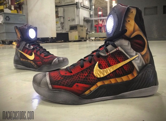 Nike Kobe IX 9 Elite 'Iron Man' by Mache
