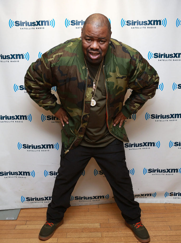 Biz Markie wearing Nike Air Force 1 High Deconstructed Military Boot