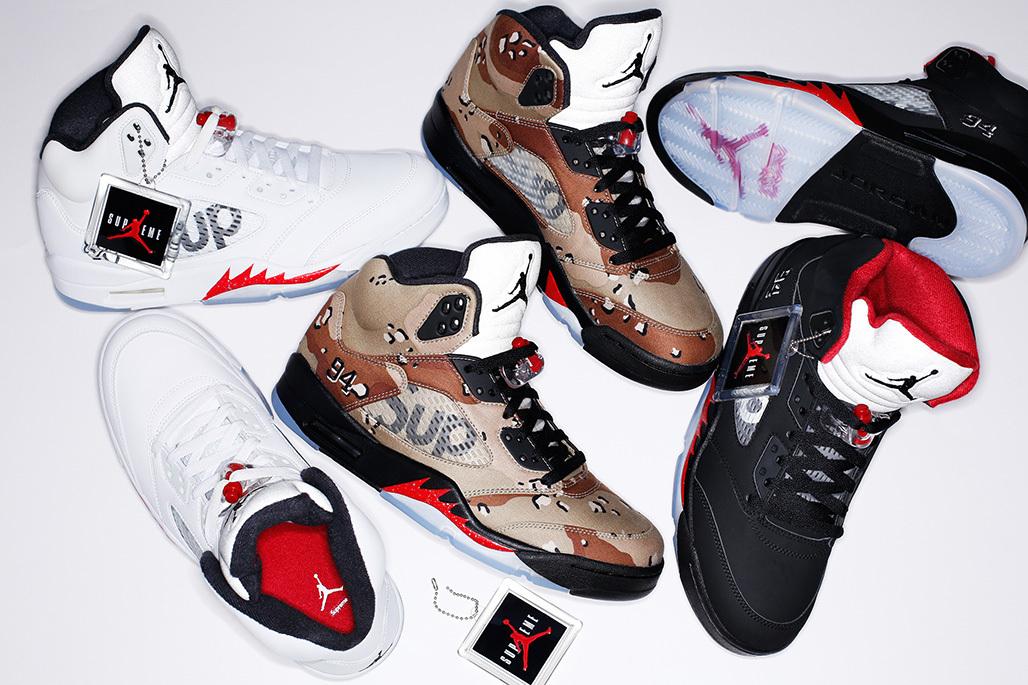 new product 6e7b1 93b5b Supreme s Air Jordan 5s Release Tomorrow