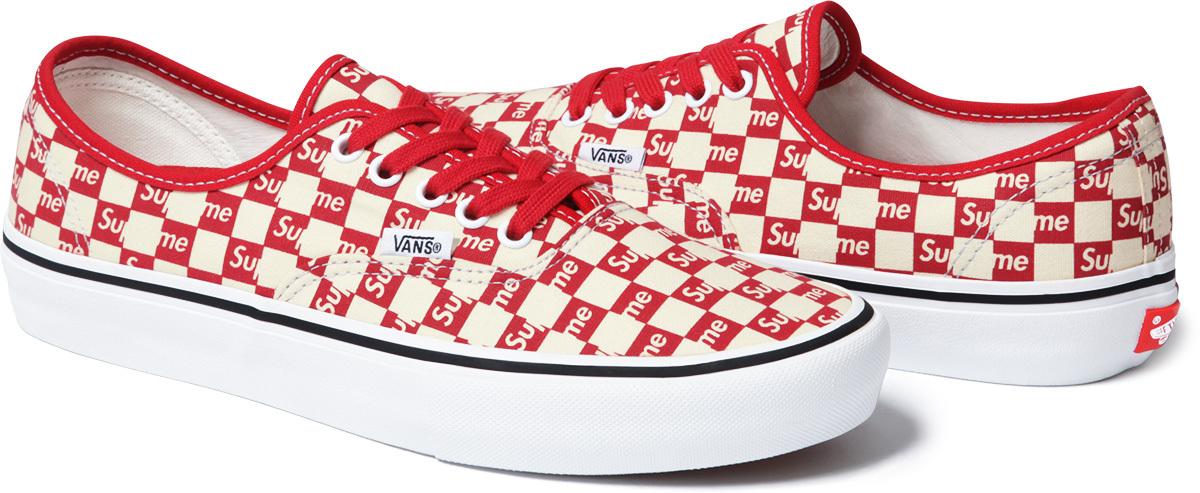 Supreme Vans Authentic Checker Red