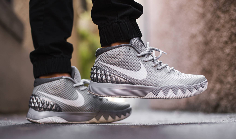 the best attitude ade03 e7b10 ... uk see how the wolf grey nike kyrie 1 looks on feet ce32f d2a84
