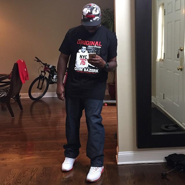 online store 09f73 c67a6 DJ Funk Flex wearing Nike LeBron VIII 8 China