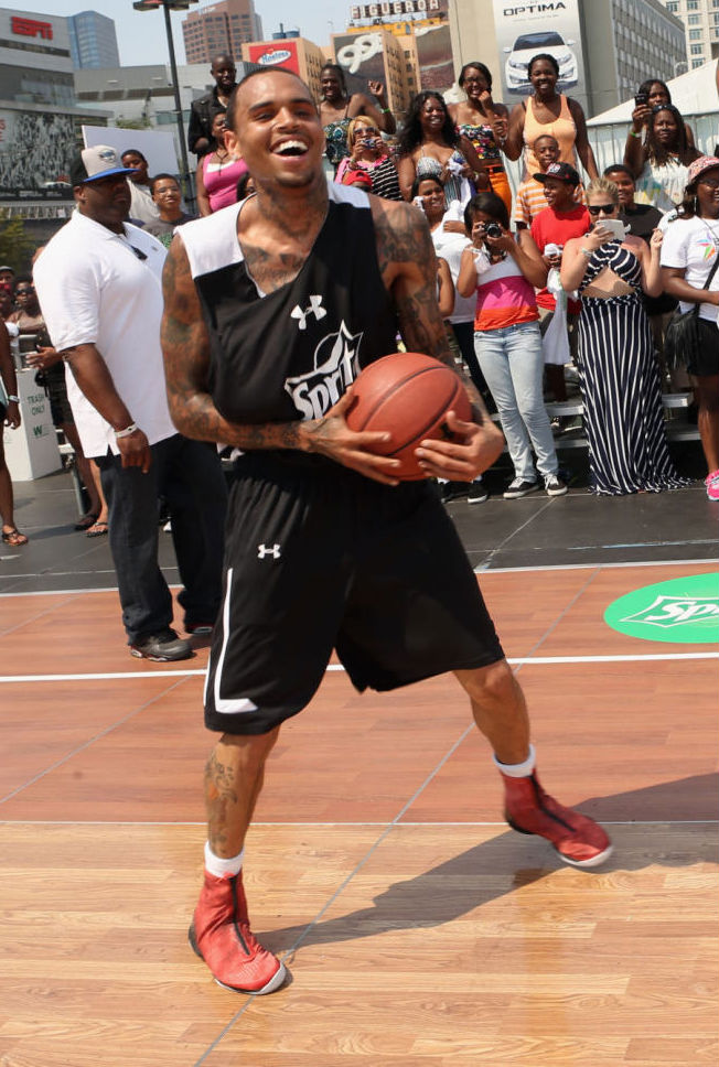 Chris Brown Wearing Air Jordan XX8 Red Camo (1)