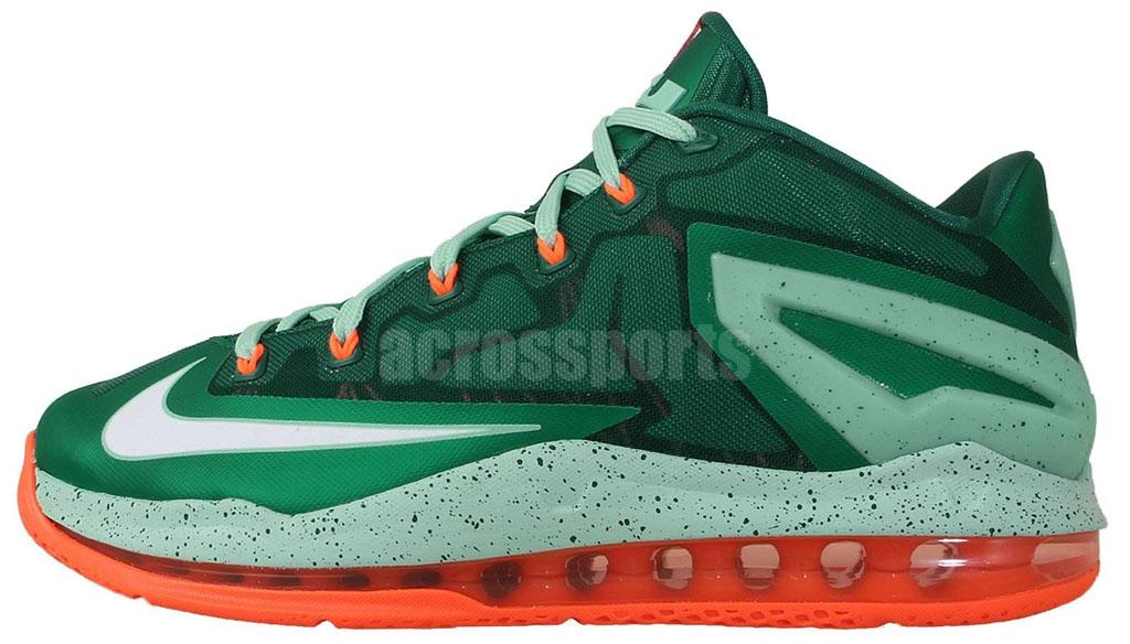 0ef1895af805 Nike LeBron XI 11 Low Biscayne Mystic Green 642849-313 (1)