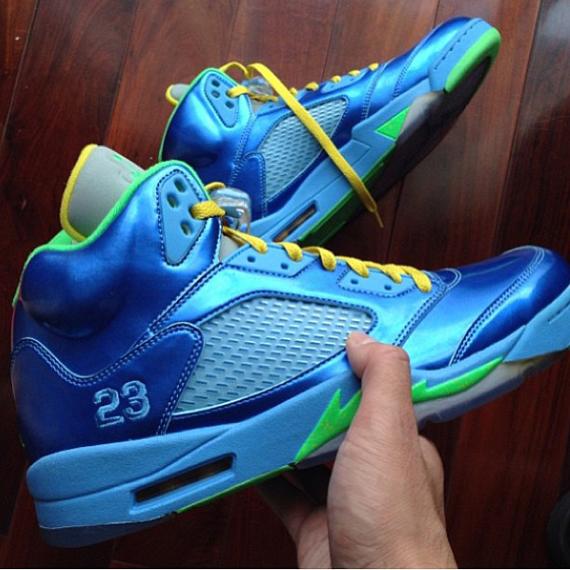 Air Jordan 5 Gs Blue And Pink