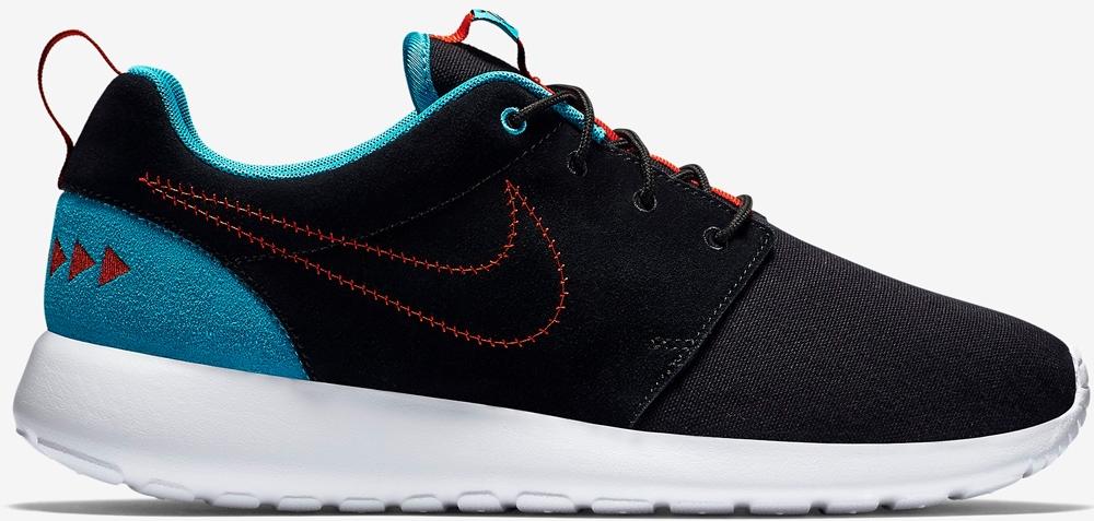 Nike Roshe One N7 Black/Black-Dark Turquoise-University Red