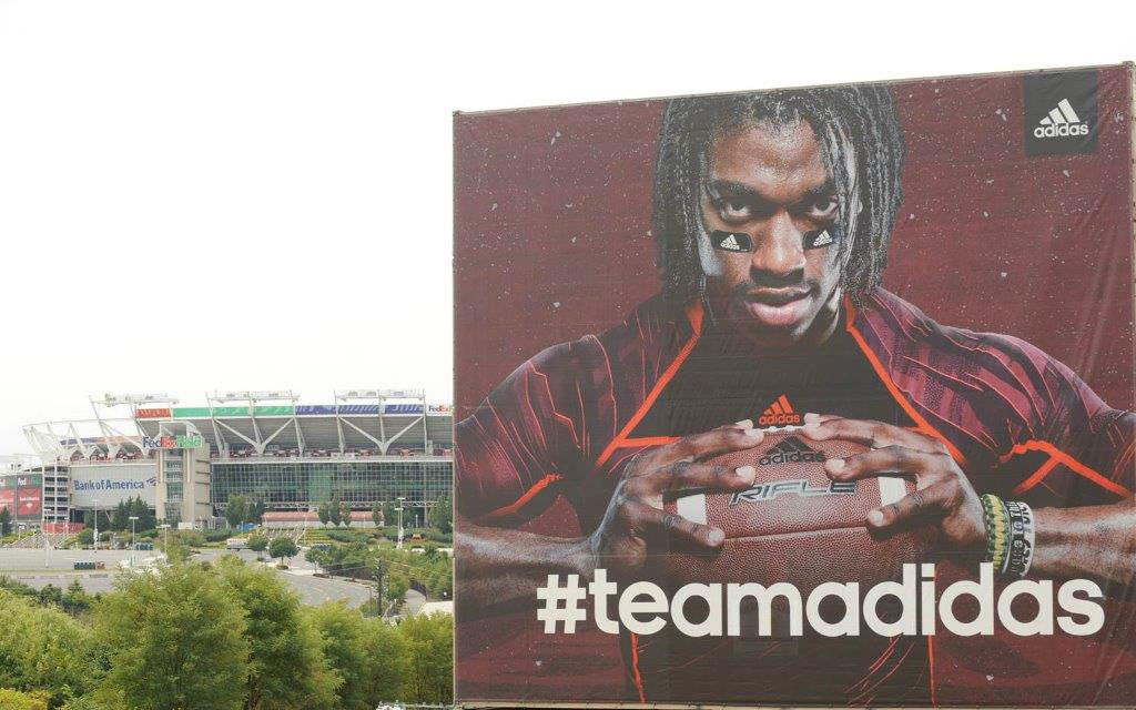 Robert Griffin III RG3 Team adidas Billboard At FedEx Field