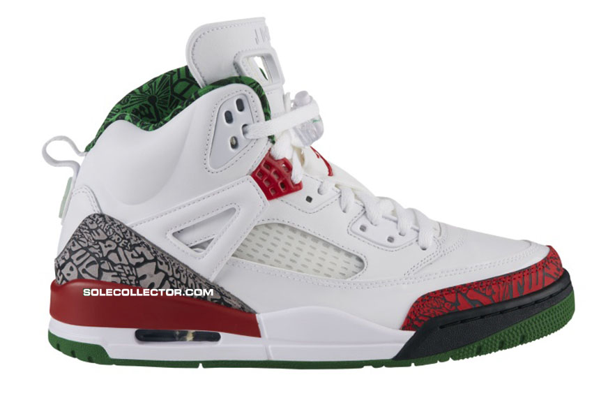 Jordan Spizike OG WhiteVarsity Red Cement Grey Classic Green Release Date 315371