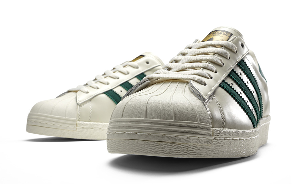 Adidas Superstar 80s Sneaker Metallic Pack Metal Silver Off White