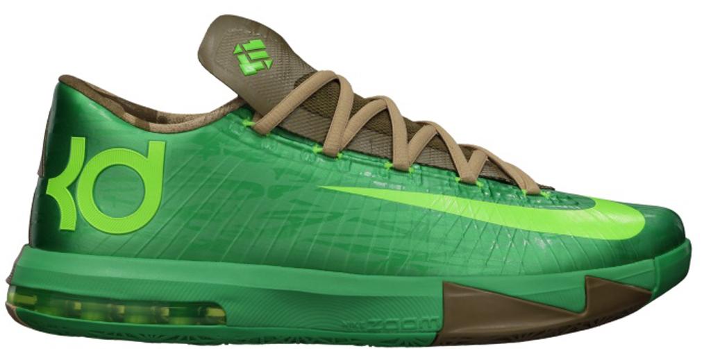 Nike KD VI \u0026#39;Bamboo\u0026#39; 599424-301 Gamma Green/Flash Lime-Raw Umber