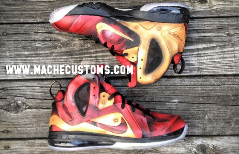 new product 78056 8cdc2 Nike LeBron 9 P.S. Elite Tony Stark by Mache Custom Kicks (1)