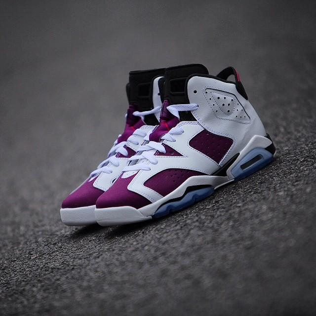 new product d262f a5d99 ... White Vivid Pink-Bright Grape-Black  120.00 - Gradeschool. Air Jordan  VI 6 GS Grape Release Date 543390-127 (2)