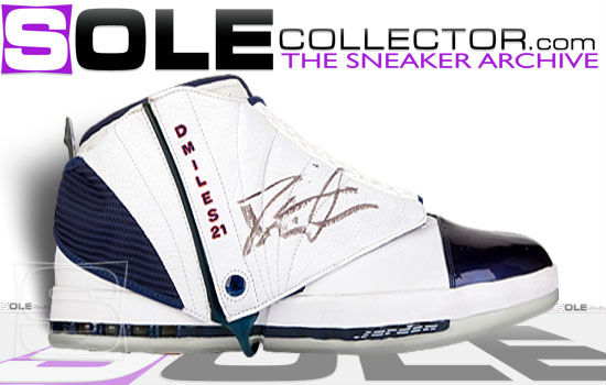 Darius Miles Air Jordan XVI PE Los Angeles Clippers Home