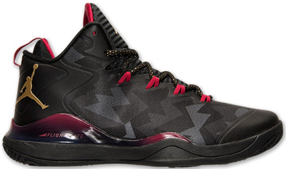 Jordan Super.Fly 3 Black/Metallic Gold-Cardinal Red