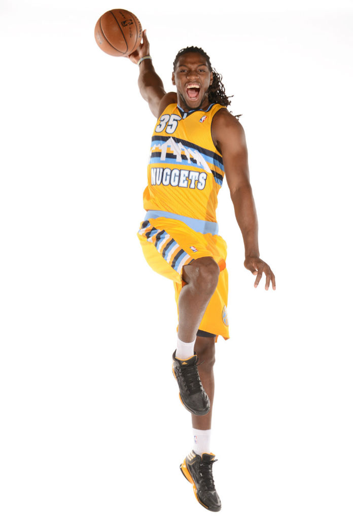 Kenneth Faried wearing adidas adiZero Crazy Light 2