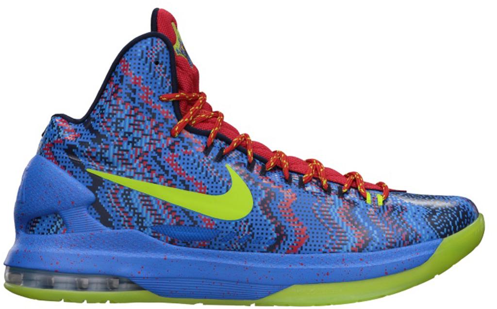 Nike KD V \u0026#39;X-Mas\u0026#39; 554988-401 Hyper Blue/Atomic Green-Photo Blue-Challenge Red