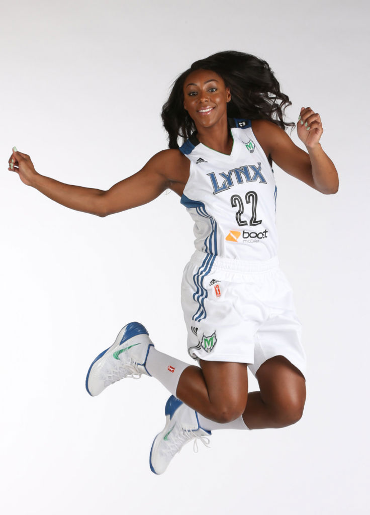 Monica Wright wearing Nike Hyperdunk 2013
