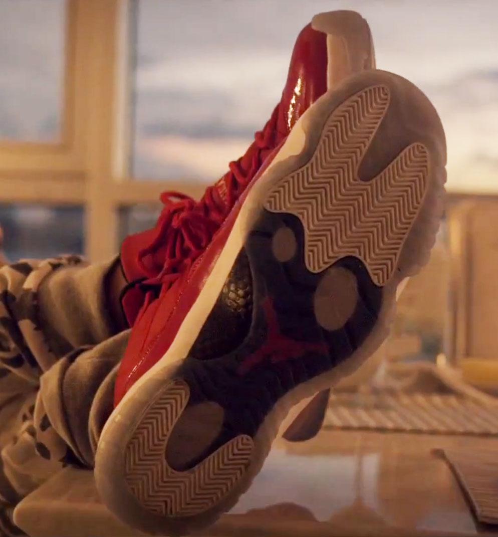 4878e54a57dc Fat Joe wearing Air Jordan XI 11 Red in Stressin Video (2)