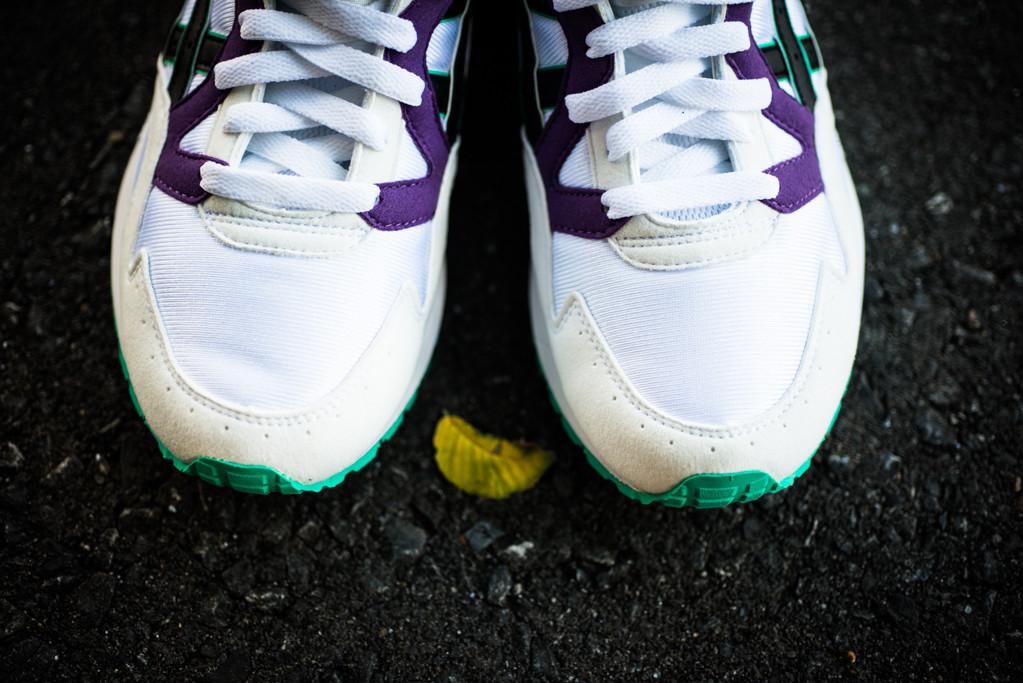 huge discount 93eea 76d3d asics gel lyte v white purple green