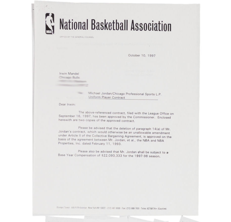 Michael Jordan's 97-98 $33 Million