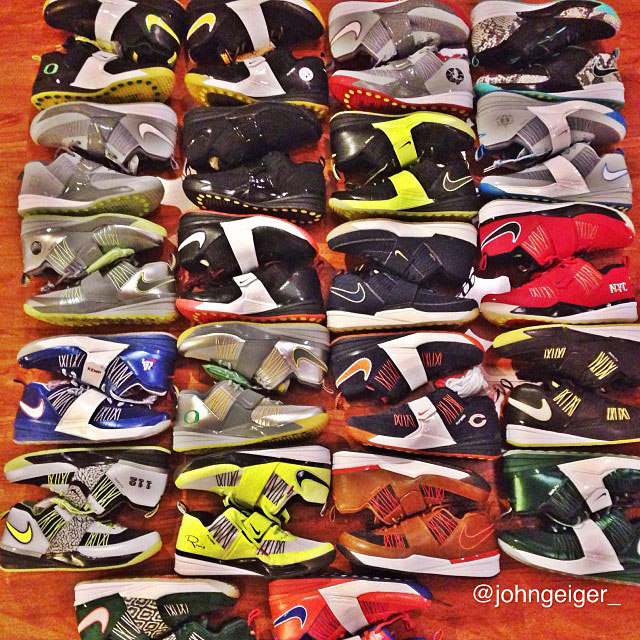 John Geiger Displays Entire 2013 Nike Zoom Revis 1 Lineup
