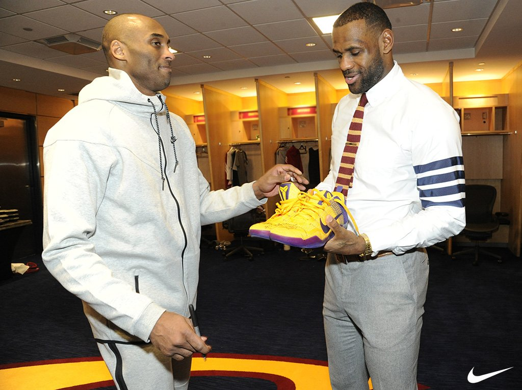 Kobe Gives LeBron Signed Sneakers (1)