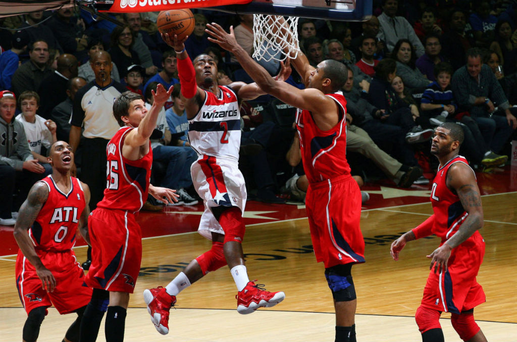 John Wall wearing adidas Top Ten 2000 Red Navy (10)