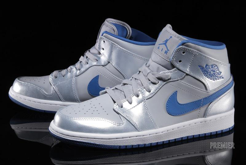 promo code 2a468 ab19f ... new zealand air jordan i 1 mid wolf grey sport blue white 554724 025  b5f20 6b5fd
