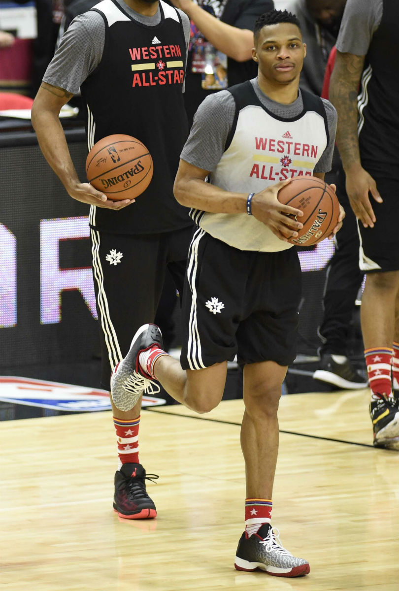 Russell Westbrook Wearing the 'Chicago' Air Jordan XX9 Low
