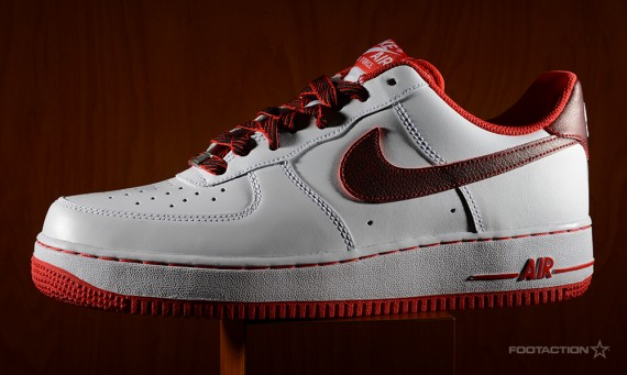 Nike Air Force 1 Faible Rouge Blanc Université