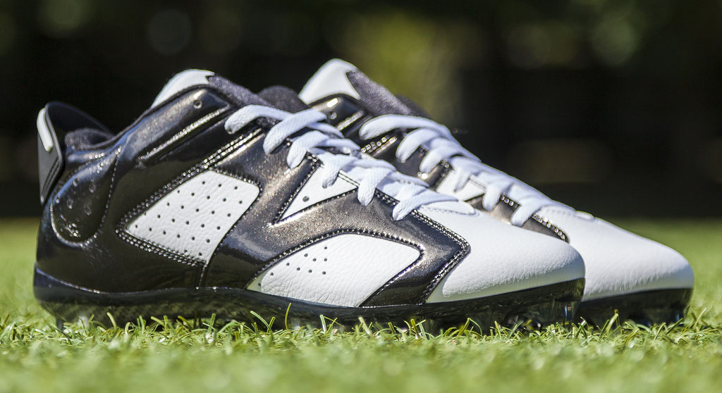 Charles Woodson's Air Jordan VI 6 Raiders PE Cleats (1)