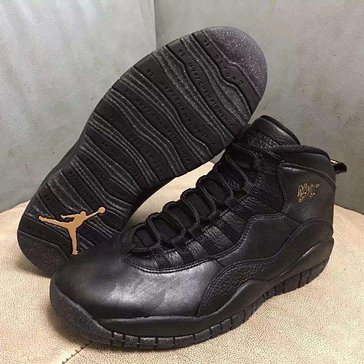 all black air jordan 10