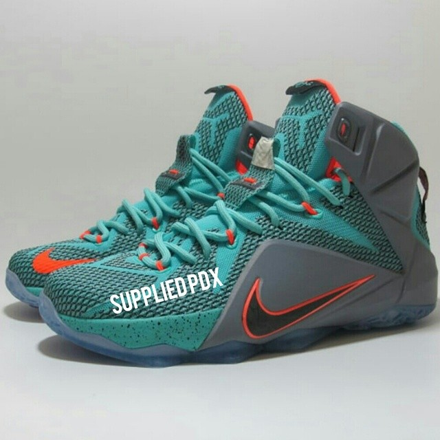 Nike LeBron XII 12 Teal/Grey-Orange Sample (7)