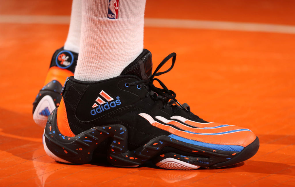 Iman Shumpert wearing adidas Real Deal Custom by Sole Swap Close-Up