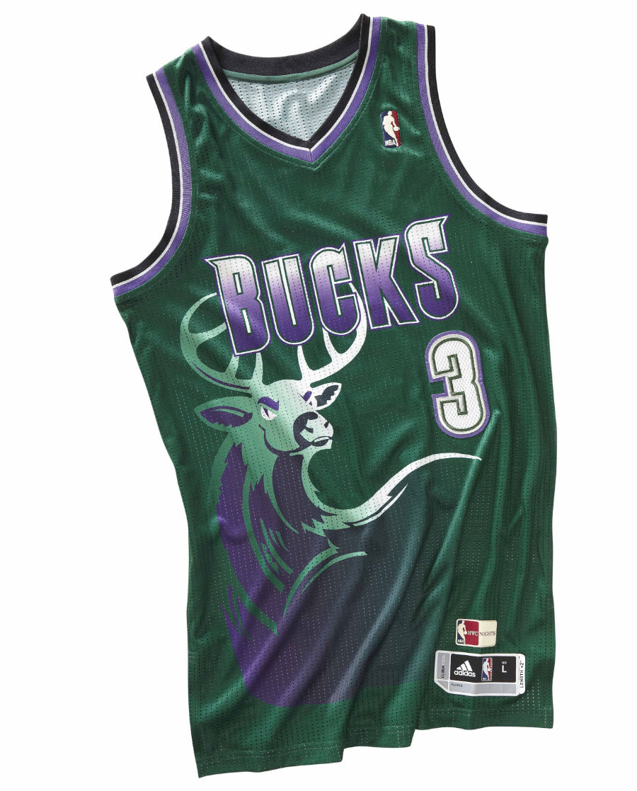 adidas NBA Hardwood Classics - Milwaukee Bucks Full Buck