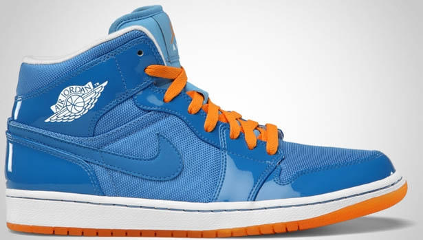 Air Jordan 1 Phat Mid Italy Blue/White-University Blue-Vivid Orange