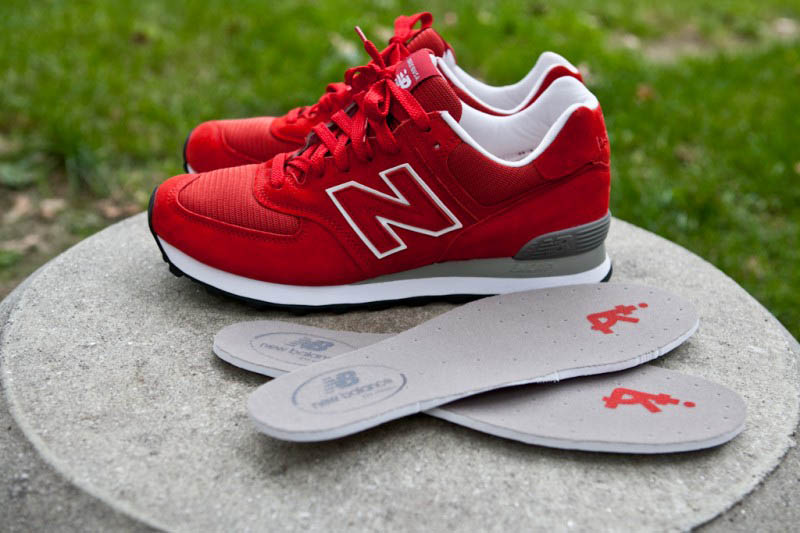 all red new balance 574
