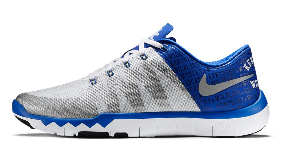 nike free trainer 5.0 royal blue and white outfit
