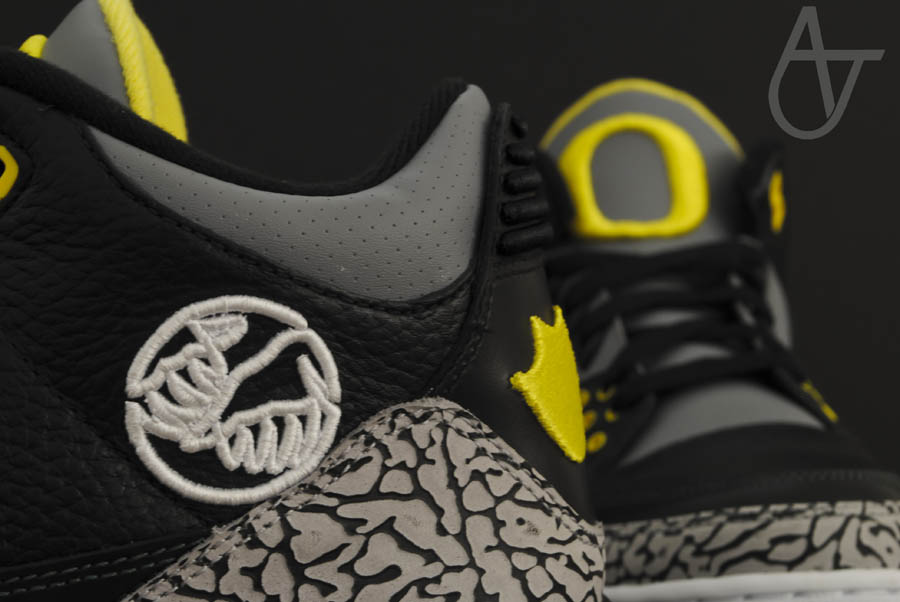 Air Jordan Retro 3 - Oregon Ducks Pit Crew Away (10)