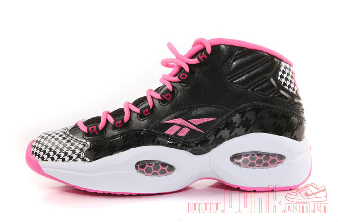 Reebok Question GS Black/Pink Houndstooth (2)