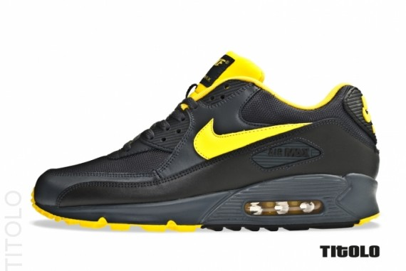 52e4507967 Nike Air Max 90 - Anthracite/Yellow-Black | Sole Collector