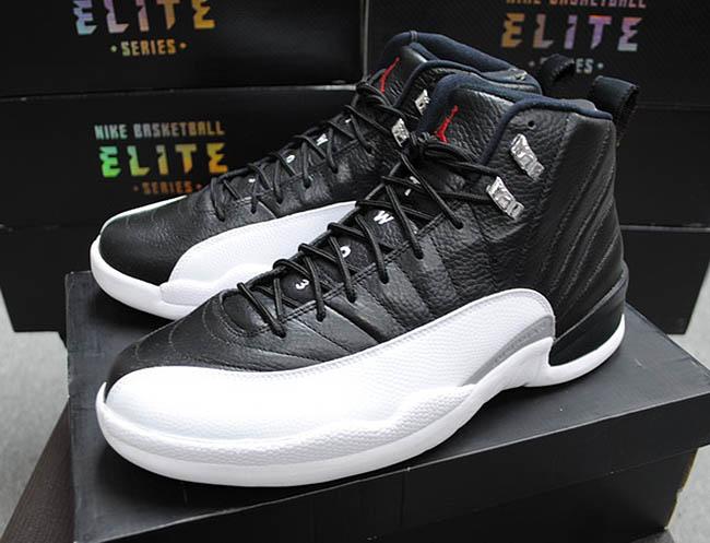 Mens Air Jordan Retro 12 Beige Black shoes