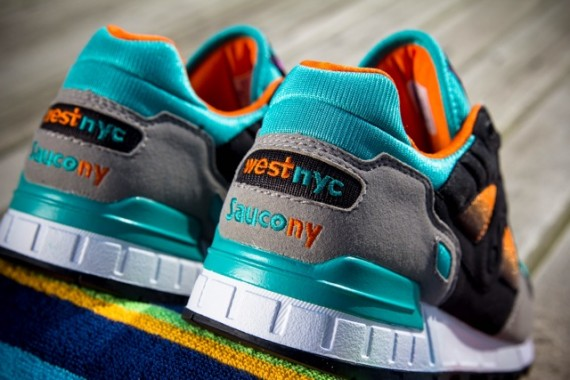 west nyc x saucony shadow 5000 tequila sunrise heel ny